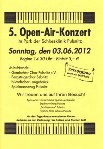 5. Open-Air-Konzert im Park der Schlossklinik Pulsnitz