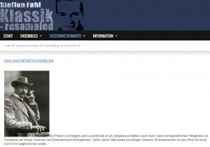 Homepage von Steffen Fahl mit Musik von Jean Louis Nicodé