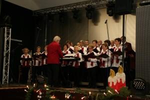 Chorauftritt im Volkshaus Lomnitz