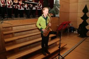 Solistin Helene mit Saxofon