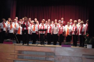 gemeinsamer Chorauftritt mit dem Gemischten Chor Pulsnitz