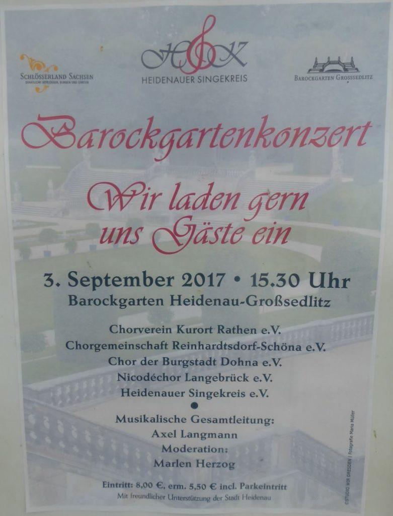 Plakat Barockgartenkonzert