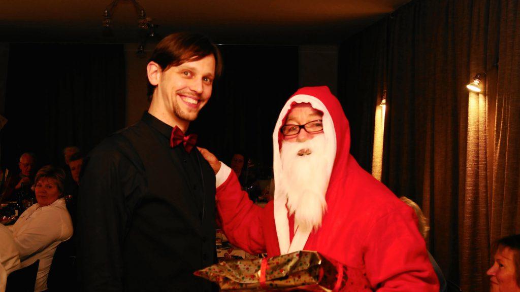 Weihnachtsmann und Weihnachtsfeier