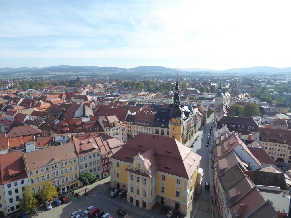 Rathaus vom Dom gesehen